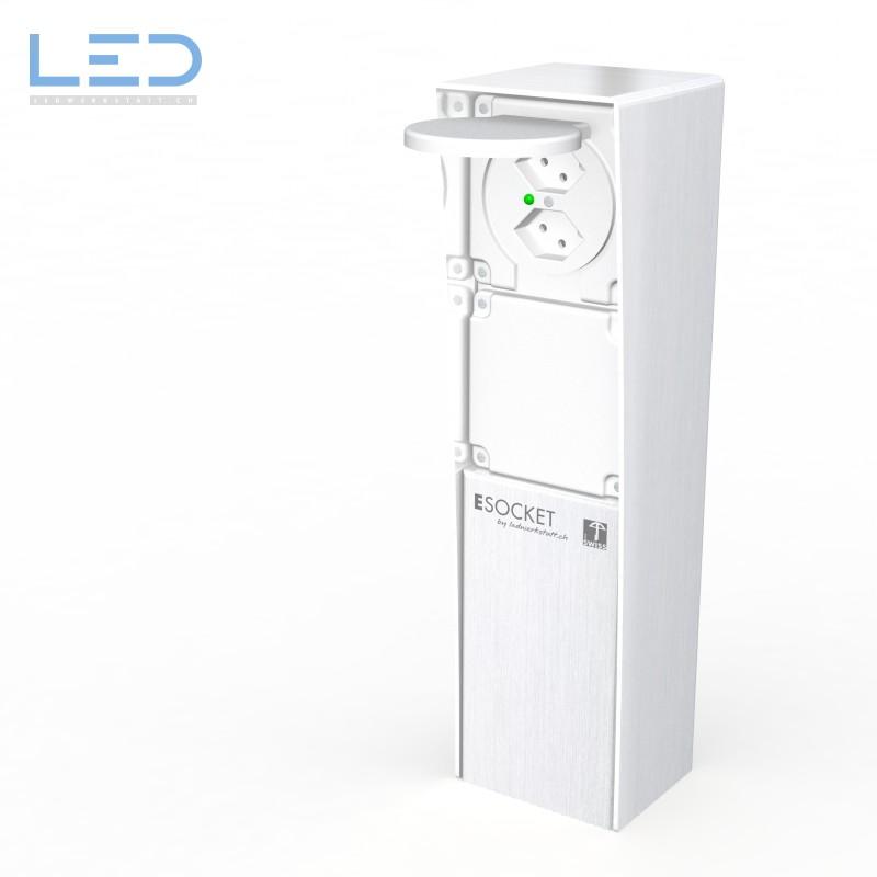 LED Elektrosäule 2xT13 mit Blinddeckel, prises de jardin, Steckdodensäule, Steckdosensockel, Gartensteckdose