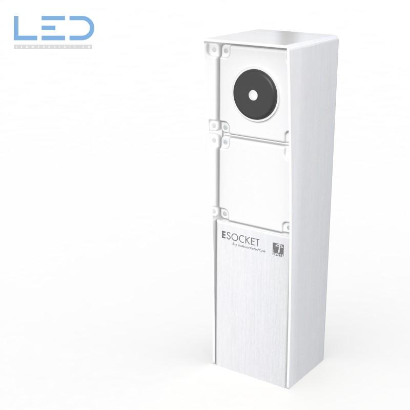 Steckdosensockel mit Schalter Edelstahl ESOCKET, prise de courant, outdoor socket