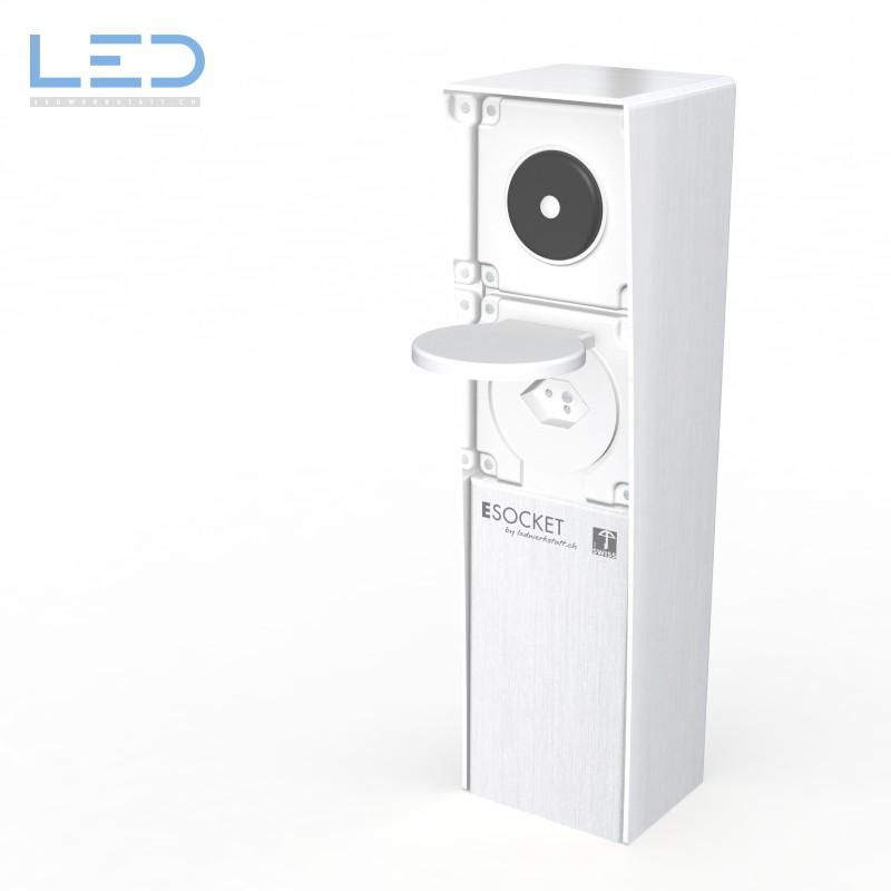 Steckdosensockel T13 Schalter Edelstahl, prise de courant, outdoor socket
