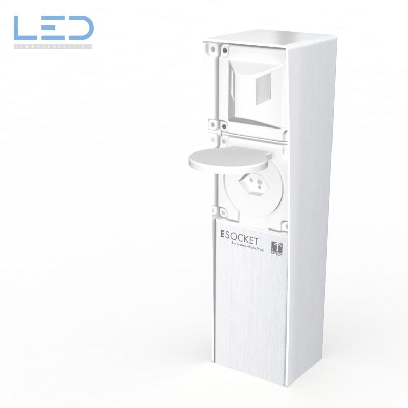Steckdosensockel, ESOCKET aus Edelstahl Bewegungsmelder mit T13, prise de courant, outdoor socket