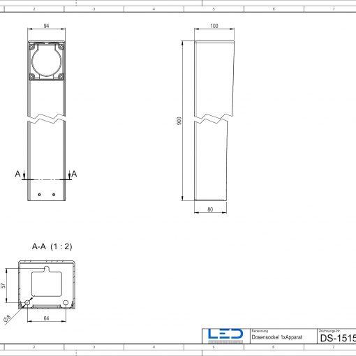 Steckdosensäule ESocket900, Steckdosensäule, socles de prises, socket pedestals, sockets column, prises colonne,