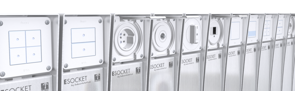 ESOCKET 600-H, Steckdosensäule ESocket, Hager, Steckdosen Säule, Gartensteckdose T13, Schaltersäule, Stromsäule, Steckdosensäule, Steckdosen Sockel