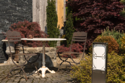 Steckdosensäule ESocket 350, Energiesäule, Stromsäule, Gartensteckdose, Steckdosensockel, Feller, T13, T25, T15, T23, Schuko