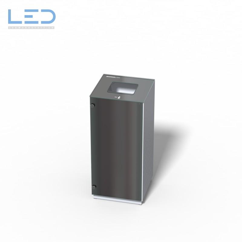 Abfallbehälter Monolith Solo, Wertstoffbehälter, Abfalleimer, Abfallsystem, Mülleimer, Ascher