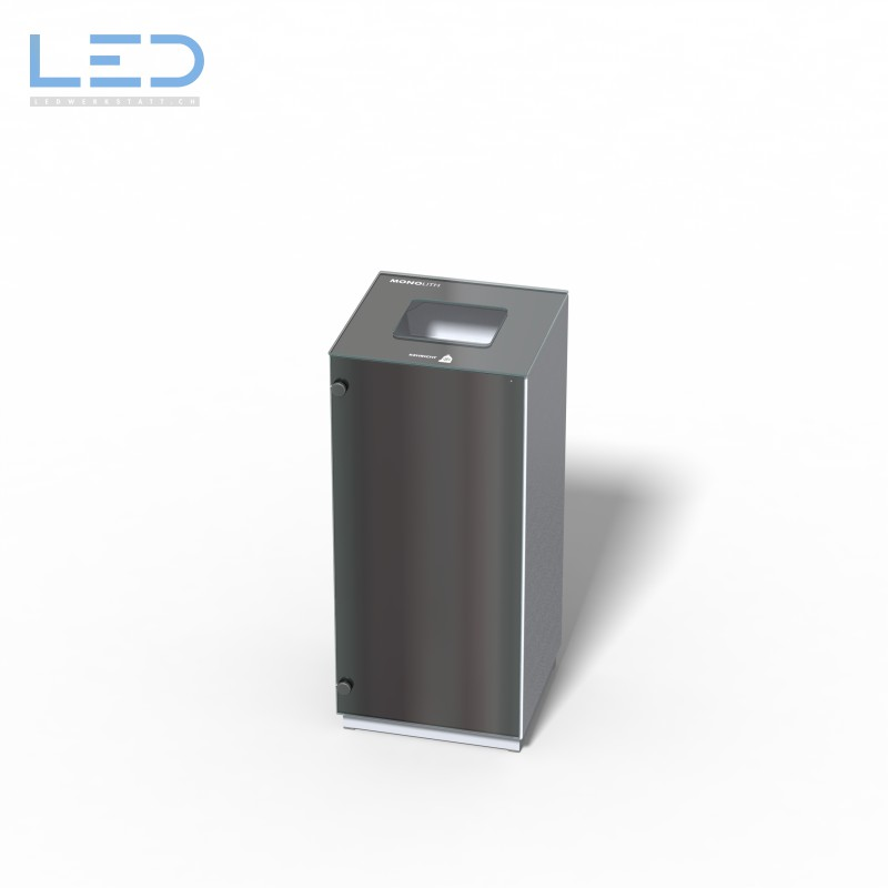 Abfallbehälter Monolith Solo, Wertstoffbehälter, Abfalleimer, Abfallsystem, Mülleimer