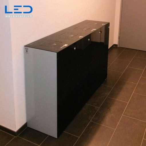 Abfallbehälter, Wertstoffbehälter, Waste Bin, Abfalltrennsystem Monolith Quattro, Recyclingbox, Recyclingstation, Recyclingbehälter