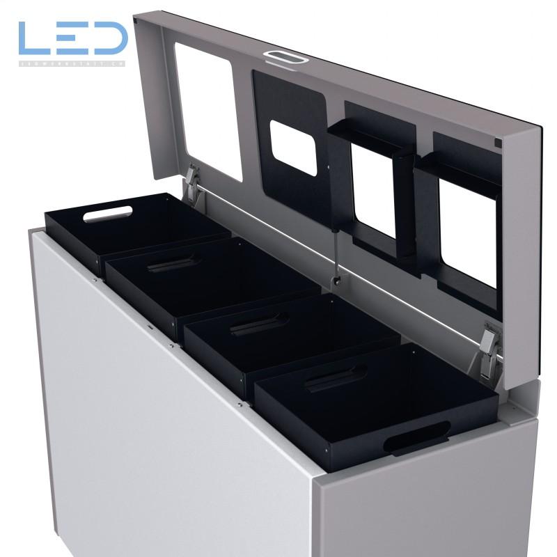 Wertstoffbehälter, Abfall Trennbehälter, Recycling Station, Waste Bin, Abfallbehälter