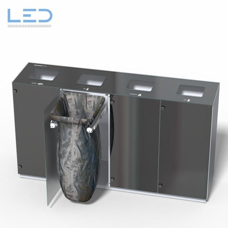 Abfalltrennbehälter, Abfallbehälter, Wertstoffbehälter, Wertstoff Trennbehälter, Mülleimer, Abfalleimer, Abfallsystem, Recycling System
