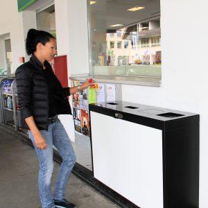 recycling supplies, Wertstoffbehälter, 110lt , Recyclingstation, Waste Bin, Abfalltrennung, Wertstofftrennung, Recycling Station, Schweiz, waste management