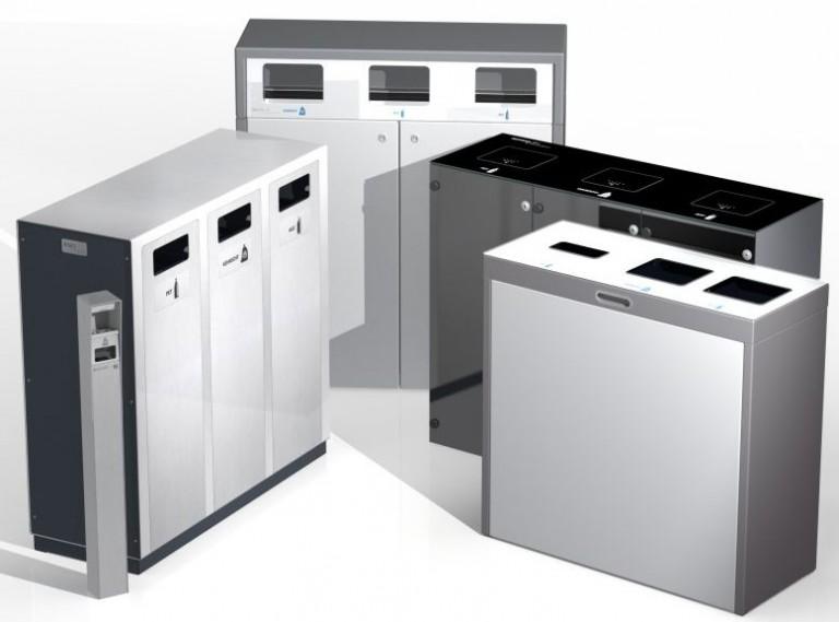 Bildergebnis für Wertstoff Trennbehälter, 110lt , Recyclingstationen, Abfallbehälter, Müll Trennbehälter, Abfallstation, Recyclingstation, Swiss Made, Swiss Label