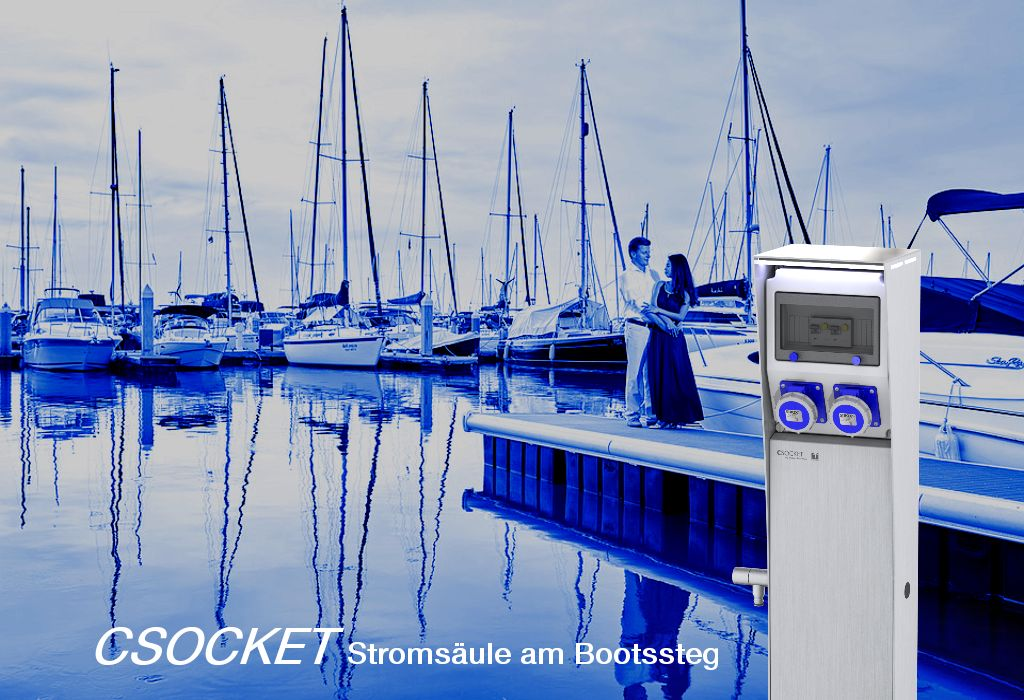 Steckdosnesäule CEE16, Stromtankstelle, Energiesäule IP67, Stromsäule, Steckdosensäulen, CampingSäulen, Marinasäulen, Prises de Courant de Camping, electric charging column, applications de la marina, socles de prises, prises colonne,