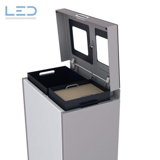 Recyclingstation, Wertstoffbehälter, Abfall Trenner, Recycling Station, Waste Bin, Entsorgungs Behälter