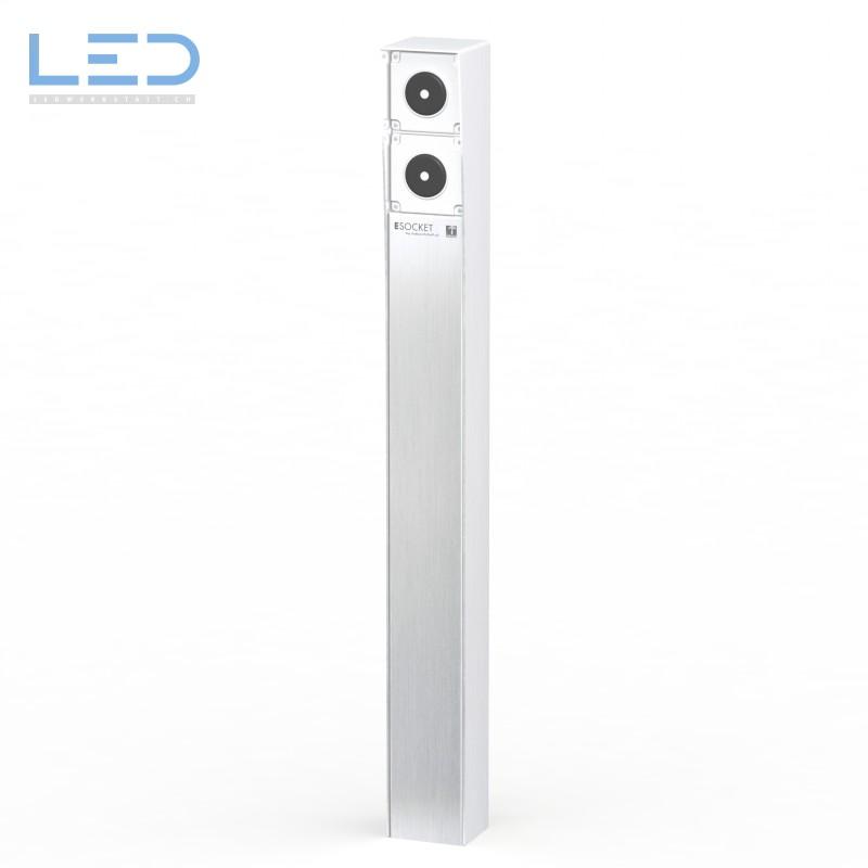 Steckdosensäule-ESOCKET 900 mit 2 Schalter, Outdoor Socket