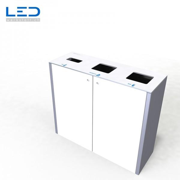 Abfallbehälter, Wertstoffbehälter, Wertstoff Trennbehälter, Mülleimer, Abfalleimer, Abfallsystem, Recycling System, Swissmade