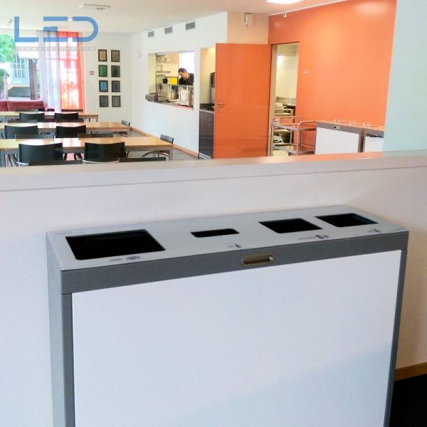 Wertstoffbehälter, Abfallbehälter, Abfallrtennung, Recyclingstation, Mülleimer, Multilith ™