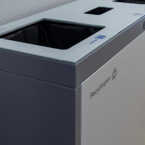 Abfallbehälter, PET, Alu, Papier, Recyclingstation, Wertstoffbehälter, Büro, Office, Innen, Drinnen, Recycling, Box, Bin, Schweiz