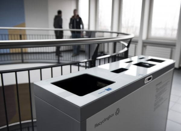 Druckerpatronen, Recyclingstation, Recycling Station Innen, Recyclingstationen Büro, Recycling Stationen Edelstahl, Recyclingbehälter Drinnen, Recyclings Box PET, Abfallbehälter, Wertstoffbehälter, 110 Liter, Swissmade, Suva, Luzern, Schweiz
