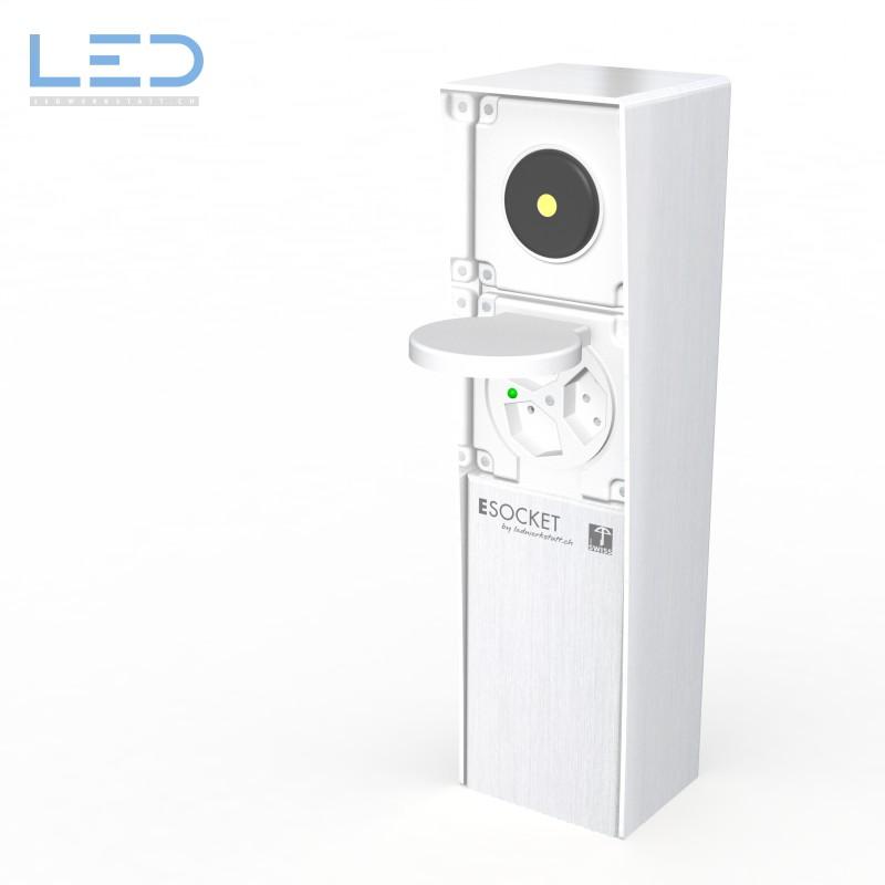 LED DruckSchalter, Schaltersäule Feller, Steckdosensäule mit Druckschalter