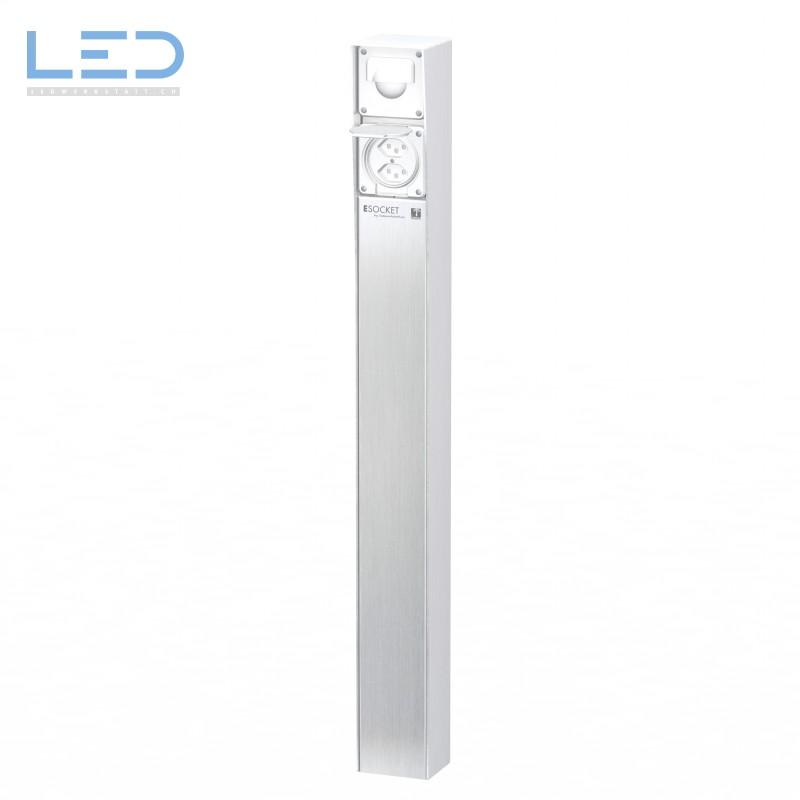 Steckdosensäule ESocket 900 mit Bewegungsmlelder und Steckdose 2 x T23
