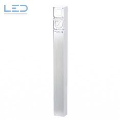 Steckdosensäule ESocket 900, Druckschalter mit 2 x T13, Anschlusssäule
