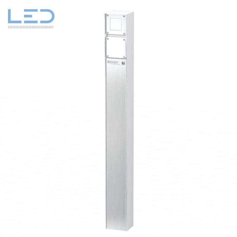 Steckdosensäule ESocket 900, Druckschalter mit Blinddeckel
