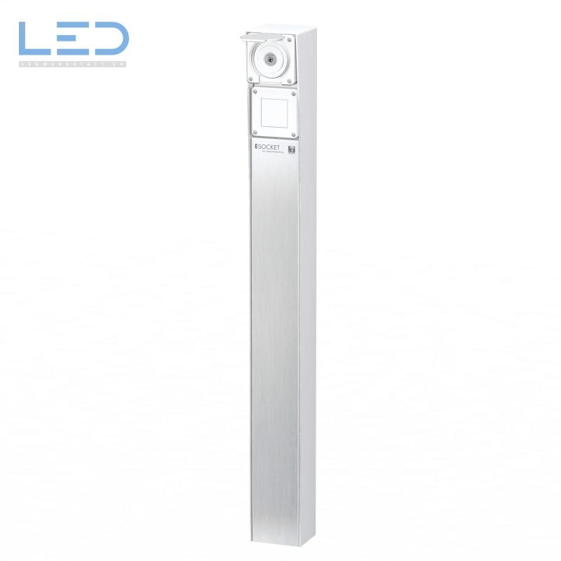 Steckdosensäule ESocket 900, Schlüsselschalter mit Druckschalter