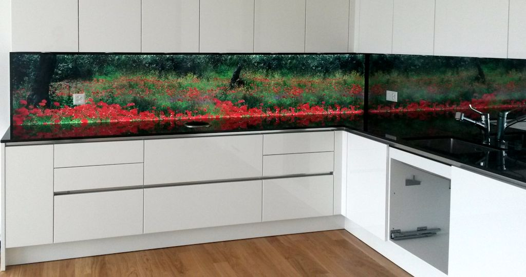 awesome k252chenr252ckwand glas mit led gallery