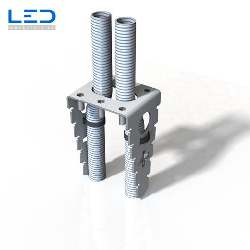 Ankerkorb ESOCKET mit M20 Zuleitung & Schlaufe für Steckdosensockel, Steckdosensäulen, Standascher und Sockelleuchte der Design Linie ESOCKET 350 und 900