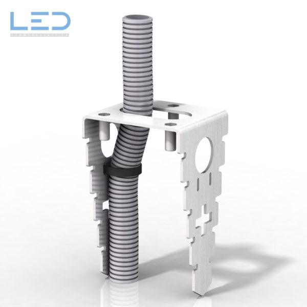 ESOCKET Anker Korb mit M20 Zuleitung für Steckdosensockel, Steckdosensäulen, Standascher und Sockelleuchte der Design Linie ESOCKET 350 und 900