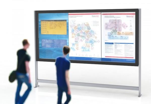 LED Leuchtkasten 3xA0 für Gemeindeinformationen oder Fahrplähne und Karten, Vitrine, Schaukasten, LED Infokasten