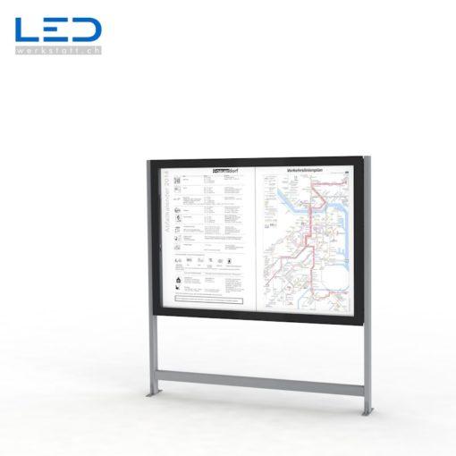 Bildergebnis für LED Infokasten 2xA0, Schaukasten, Infokasten, Fahrgastinformation, Gemeindeinformation
