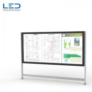 LED Leuchtkasten 3xA0 mit LED Hinterleuchtung für Gemeinden und den öffentlichen Verkehr