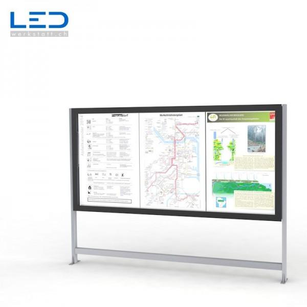 Fahrplan Info LED Leuchtkasten mit LED Hinterleuchtung für Gemeinden und den öffentlichen Verkehr