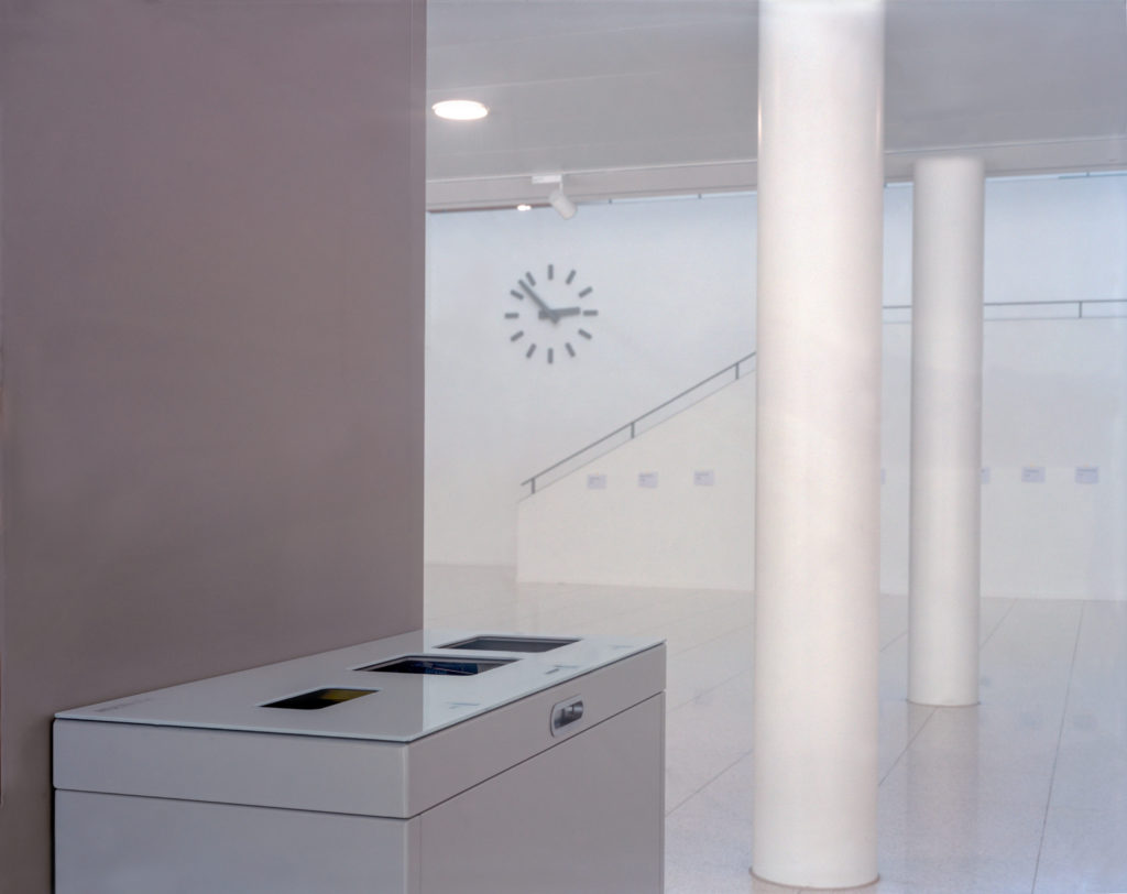Multilith 3.0 Recycling Station in Horw, Abfallbehälter, 110 Liter PET, 60 Liter Abfall, 60 Liter Alu, Swissmade