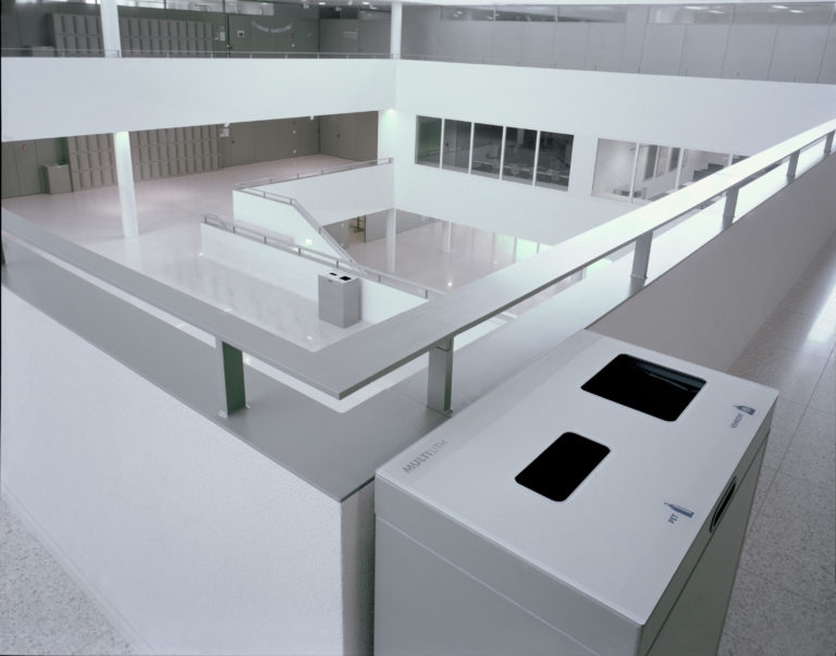Multilith 2.0 Recycling Station, Abfallbehälter, Wertstoffbehälter, PET 110 Liter, Abfall 60 Liter