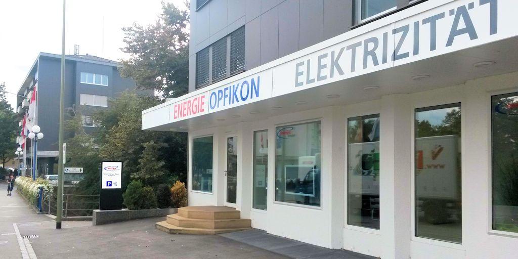 Energie Opfikon LED Pylone, Stele, Leuchtreklame, Leuchtkasten, Leuchtschild