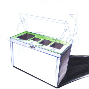 Recycling Station, 3fach, Recycling Bins, Recyclingstation Design, Wertstoffbehälter, Waste Bin, Abfalltrenner, Abfallbehälter, Recycling Station, Swiss Made, Innenraum, Entsorgung , Büro, Office, Multilith