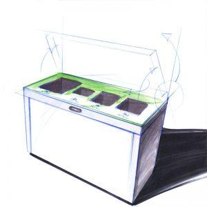 wertstoffsammler, 3fach, Recycling Bins, Recyclingstation Design, Wertstoffbehälter, Waste Bin, Abfalltrenner, Abfallbehälter, Recycling Station, Swiss Made, Innenraum, Entsorgung , Büro, Office, Multilith