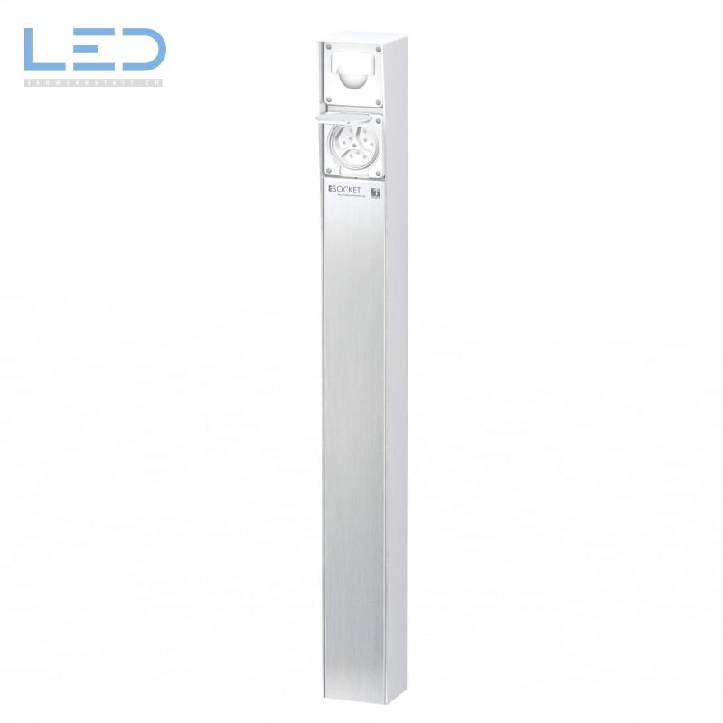 Steckdosensäule ESocket 900 mit Bewegungsmlelder und Steckdose 3 x T13