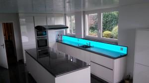 Bildergebnis für Küchenrückwand, Leuchtpanel LED, RGB WW Leuchtfläche, LED RGB Küchen-Deko