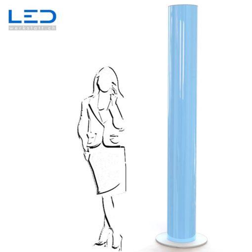 LED Leuchtsäule blau, Leuchtreklame, Lichtwerbung