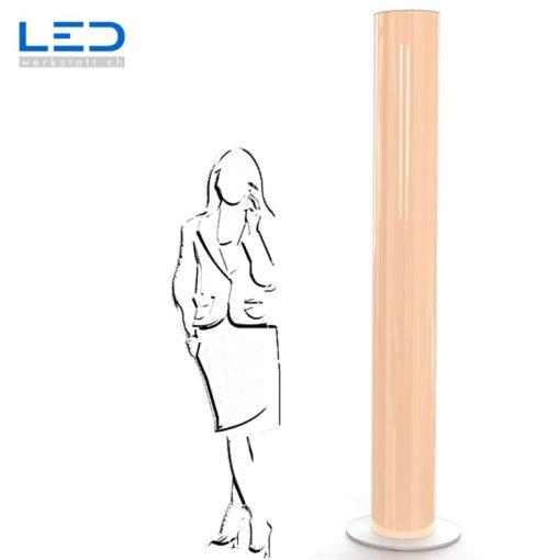 LED Leuchtsäule gelb Leuchtreklame, Lichtwerbung