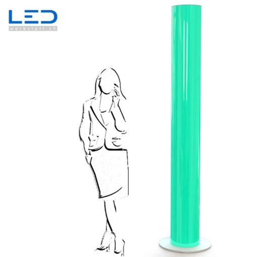 LED Leuchtsäule grün, Leuchtreklame, Lichtwerbung