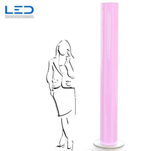 LED Leuchtsäule violett, Leuchtreklame, Lichtwerbung