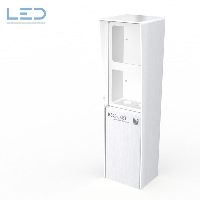 Steckdosensockel 2-Fach ohne Apparate, Steckdosensäule, socles de prises, socket pedestals, sockets column, prises colonne,