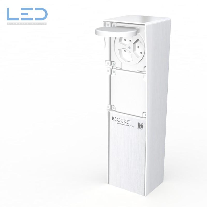 LED Elektrosockel 3xT13, prises de jardin, Steckdodensäule