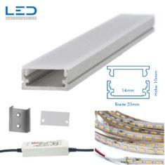LED Profil Leuchte 20x10mm, LED Profile, Beleuchtung nach Mass