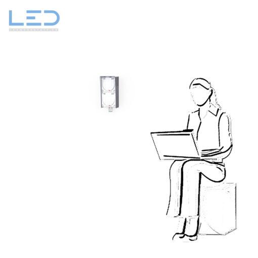 Edelstahl Steckdosenblende ESOCKET T23, Feller Edizio AP, Hager Robusto AP, Anfahrschutz für Steckdosen, Elektromaterial, Swiss Made