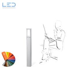 ESOCKET 900-LED Sockelleuchte, Wegleuchte in geschliffenem Edelstahl für Ihren Aussenbereich im Garten oder auf der Terrasse, Elektromaterial