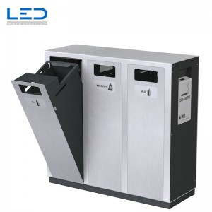 W3-Abfalltrenner, Wertstoffbehälter, Abfalltrennung Outdoor, Draussen